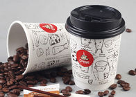 8oz 12oz 16oz Double Wall Paper Cups With Lids For Hot Drinks , Eco Friendly