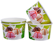 China Single Wall Frozen Yogurt Paper Cups , Paper Ice Cream Pint Containers company