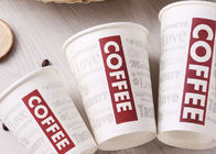China Single Wall White Paper Coffee Cups With Lids FDA Approved Paper Materials factory