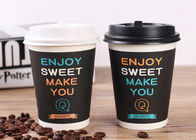 China Black Biodegradable Insulated Coffee Cups Disposable With Lids Eco Friendly factory