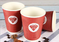 China Takeaway Eco Friendly Coffee Cups , Red Disposable Hot Beverage Cups company