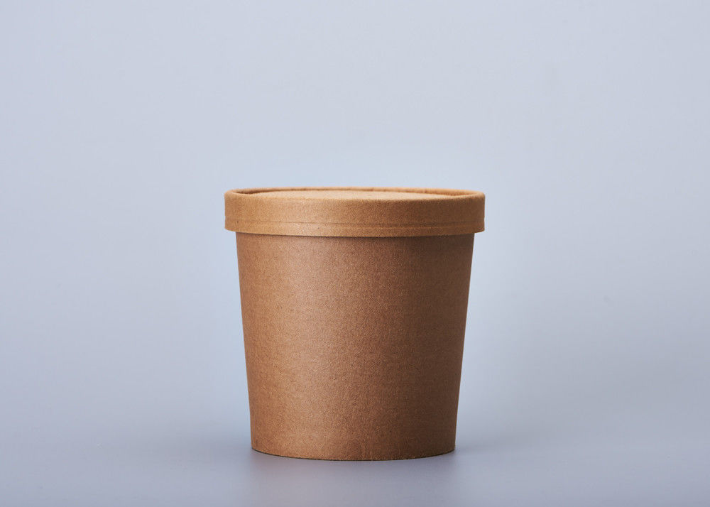 12oz 16oz Hot Paper Soup Cups , Takeaway Coffee Cups With Lids For Restaurant
