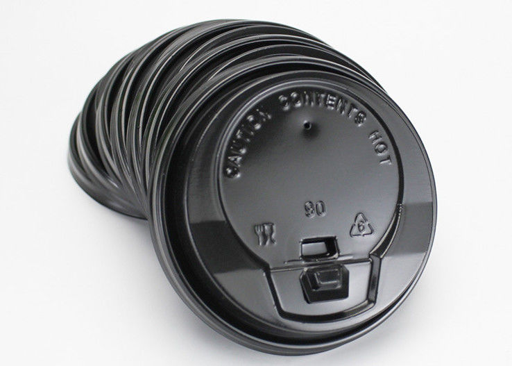 80mm 90mm black Paper Cups Lids , Custom Printed Disposable Coffee Cups