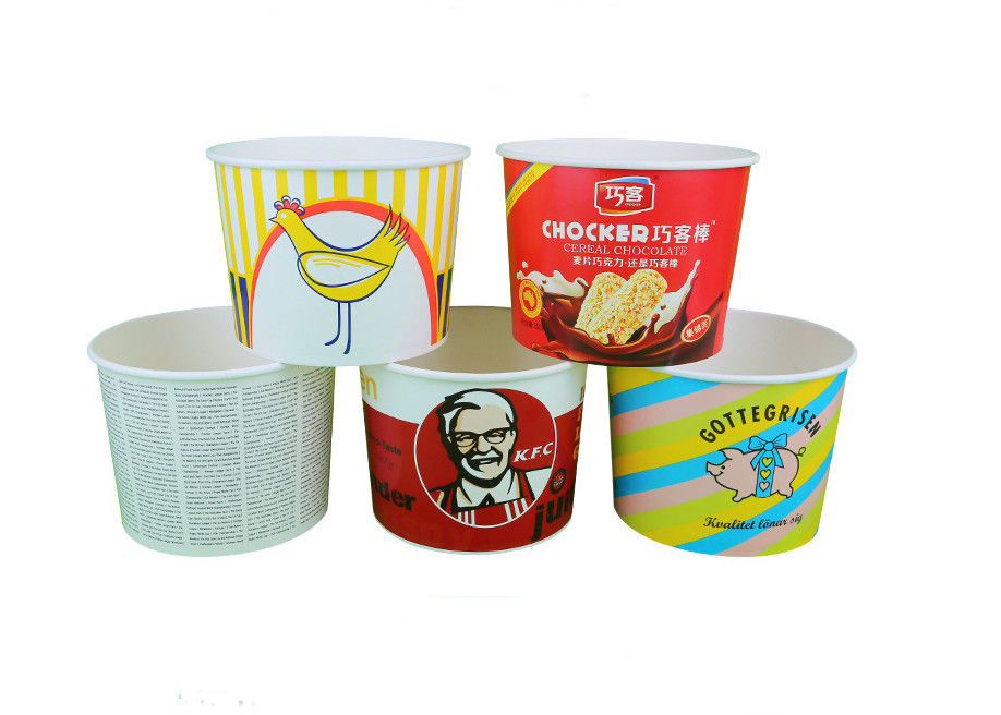 Individual Paper Popcorn Containers For Party , Reusable Popcorn Bucket