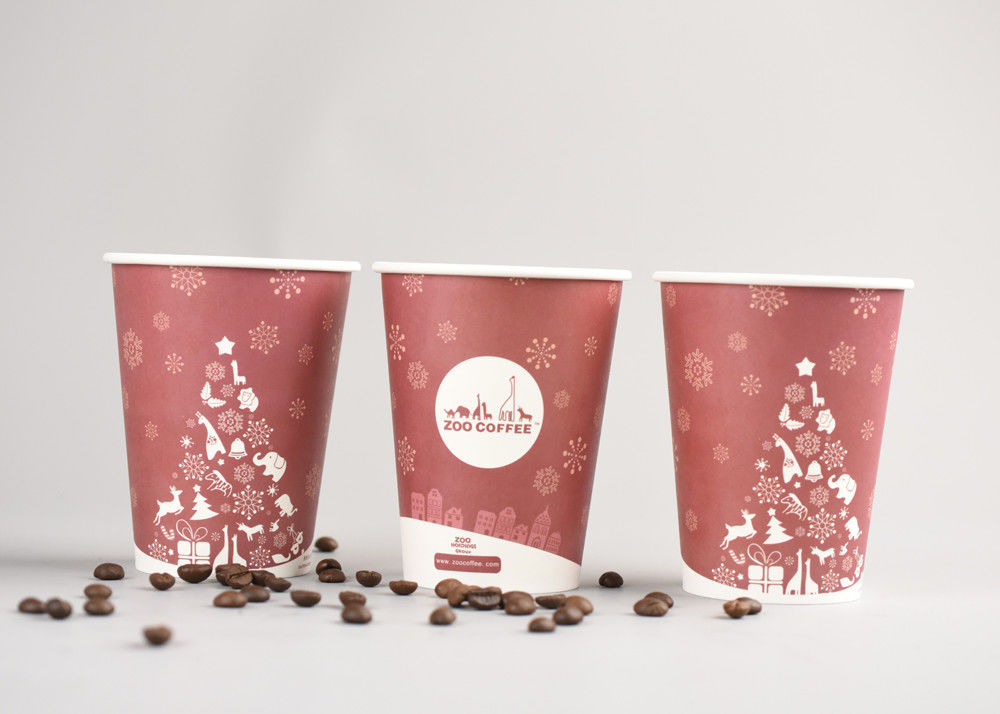 Custom Personalized Disposable Coffee Cups Insulated With Fda