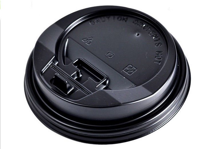 Heavy Duty Eco friendly Paper Coffee Cups Lids For Hot / Cold Dirnk No Smell