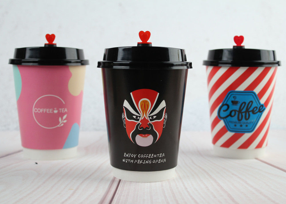 8oz 12oz 16oz Paper Drinking Cup Single Wall Paper Cups With Lids
