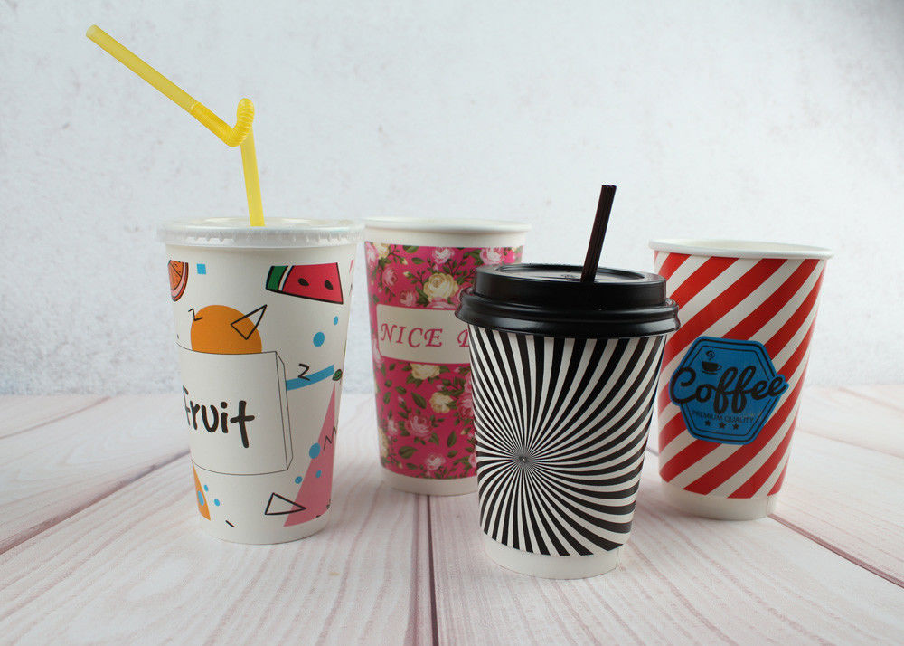 red black personalized insulated paper cups custom disposable