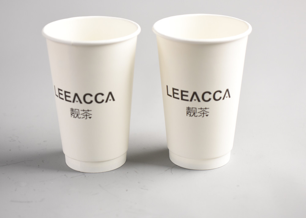 400ml disposable paper cups logo printed insulated paper coffee cups