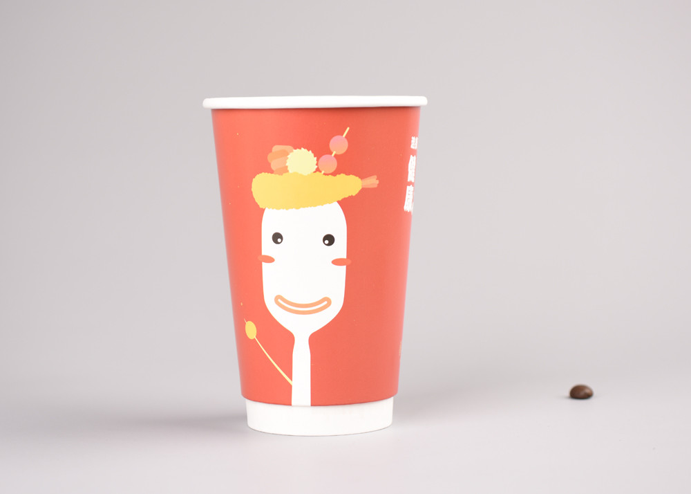 Recyclable Hot Insulated Paper Cups For Coffee / Tea , Eco