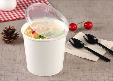 Hot Take Out Soup Containers Full Colour Printing With PE Lamination