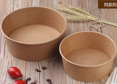China Takeaway Disposable Paper Bowls With Lids , Kraft Brown Paper Bowls factory