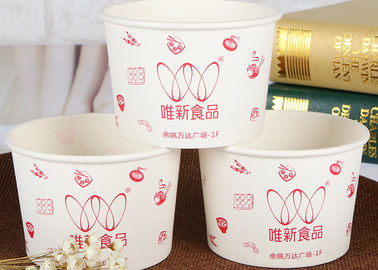 China Big Custom Disposable Paper Bowls Hot Food Cup With Plastic Lid factory