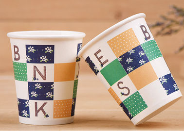 Hot And Cold Insulated Disposable Cups , Take Out Biodegradable Paper Cups