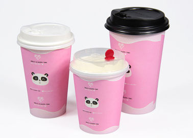 Branded Drinking Single Wall Paper Cups Disposable Coffee Cups With Lids