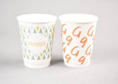 China Branding Hot Drink Insulated Paper Cups With 4 Color Process Printing factory