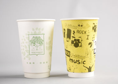 China Personalized Takeaway Hot Drink Cups Double Wall With 4 Color Process Printing factory