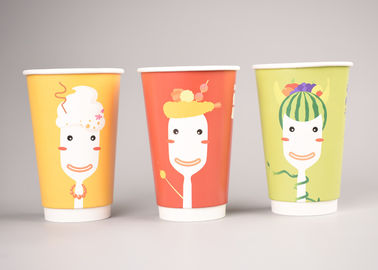 China Modern Design Custom Paper Coffee Cups Heat Insulation , Printed Paper Cups factory