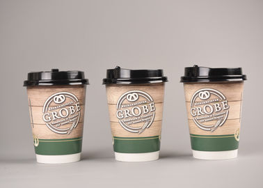 Nice Design 12oz Medium Disposable Coffee Cups Double Wall Paper Cups