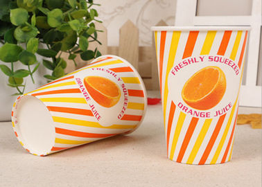 Custom Design Take Out Cold Paper Cups For Beverage , Eco Friendly