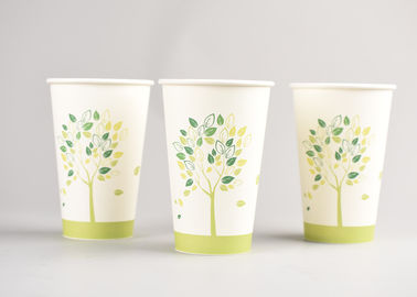 China Custom Printed 16oz White Disposable Cofffee Paper Cups with Coffee Lids factory