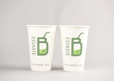 Recyclable 16oz Disposable Hot Drink Cups For Tea , Branding Logo