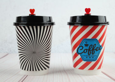 Beautiful Double wall Custom Printed Paper Cups Insulated Paper Cups with Coffee Lids